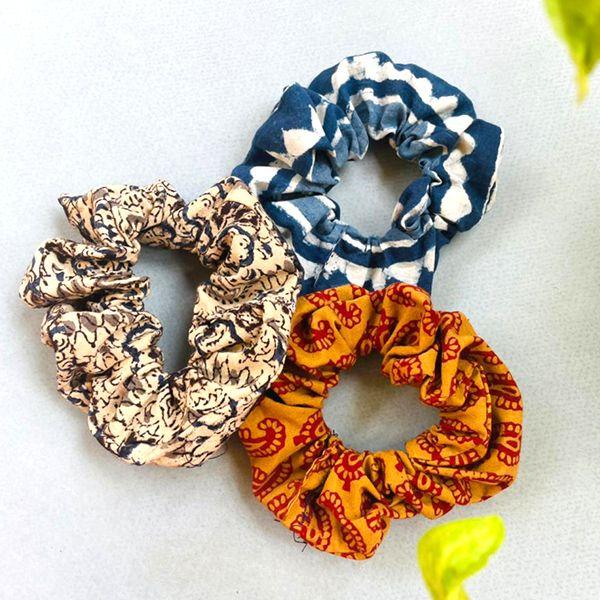 Multi colour scrunchie
